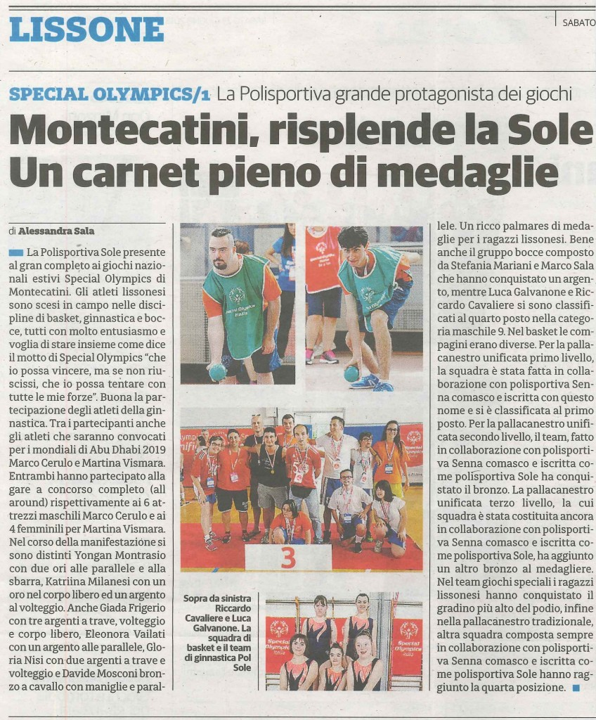 Articolo Special Montecatini